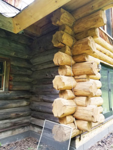 blue mountain log home